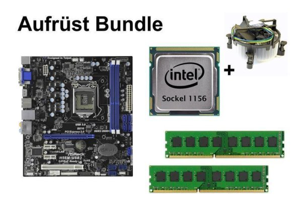 Aufrüst Bundle - ASRock H55M/USB3 + Intel i7-875K + 4GB RAM #96548