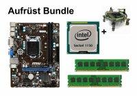 Aufrüst Bundle - MSI H81M-P33 + Intel Core i5-4670K...