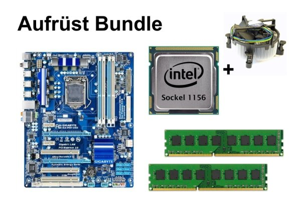 Aufrüst Bundle - Gigabyte GA-P55-UD3 + Intel Core i5-750 + 4GB RAM #133674
