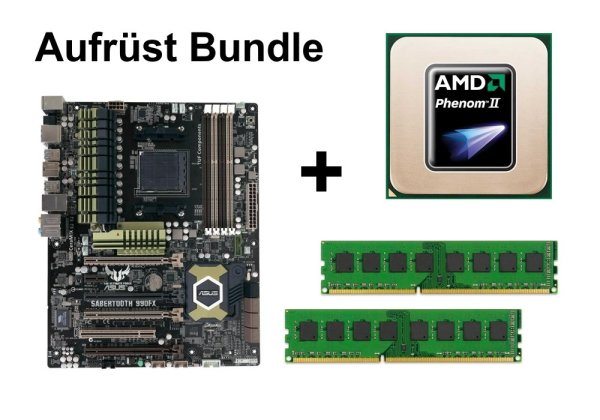 Aufrüst Bundle - ASUS Sabertooth 990FX + Phenom II X4 955 + 16GB RAM #107820