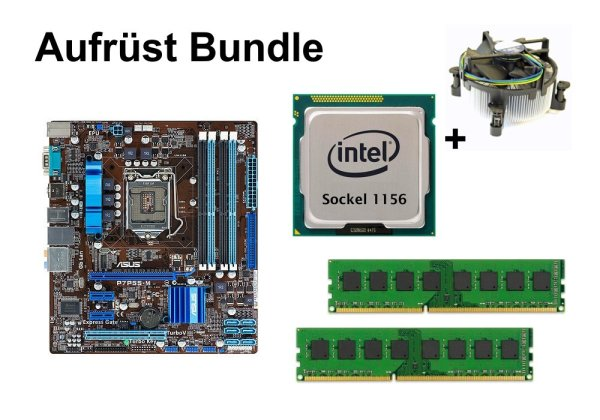 Aufrüst Bundle - ASUS P7P55-M + Intel Core i3-540 + 4GB RAM #58436