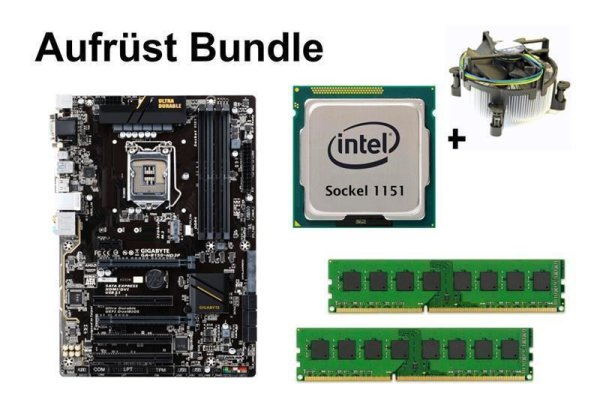 Aufrüst Bundle - Gigabyte GA-B150-HD3P + Intel Core i3-6300 + 16GB RAM #97615