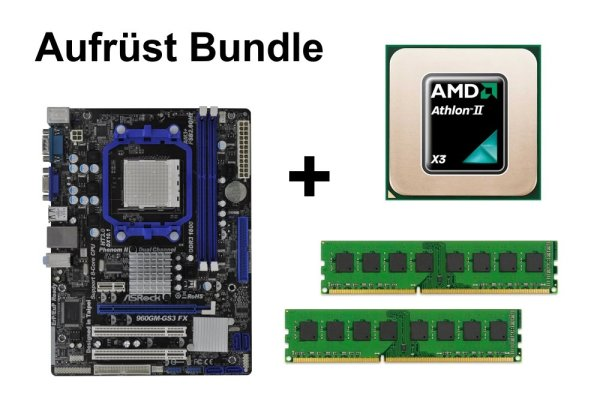 Aufrüst Bundle - ASRock 960GM-GS3 + Athlon II X3 455 + 8GB RAM #102240