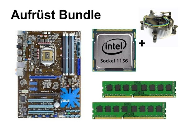 Aufrüst Bundle - ASUS P7P55 LX + Intel Core i3-530 + 16GB RAM #133220