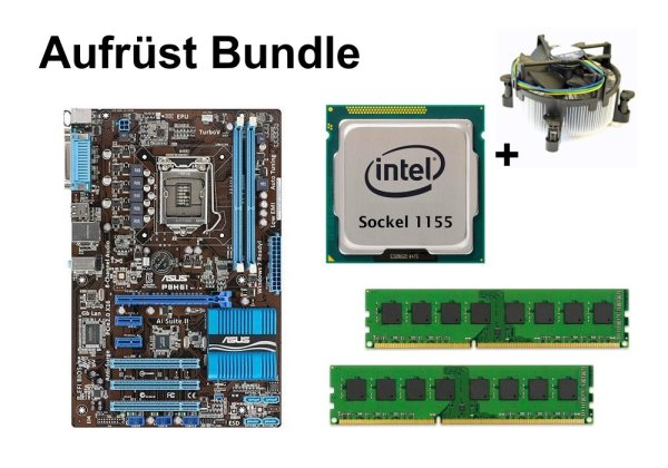 Aufrüst Bundle - ASUS P8H61 + Intel i5-3470 + 4GB RAM #81018