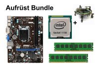 Aufrüst Bundle - MSI H81M-P33 + Intel Core i5-4590S + 4GB...