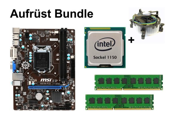 Aufrüst Bundle - MSI H81M-P33 + Intel Core i5-4590S + 8GB RAM #117897