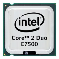 Intel Core 2 Duo E7500 (2x 2.93GHz) SLGTE CPU Sockel 775...