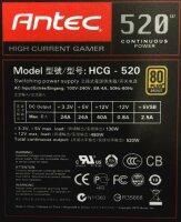 Antec HCG-520 High Current Gamer ATX Netzteil 80 Plus...