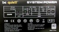 Be Quiet System Power S6 80Plus 300W (BN080) ATX Netzteil...