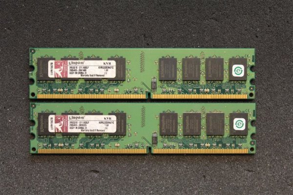 Kingston KVR 2 GB (2x1GB) KVR533D2N4/1G 240pin DDR2-533 PC2-4200   #41794