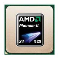 AMD Phenom II X4 925 (4x 2.8GHz) HDX925WFK4DGM CPU Sockel...
