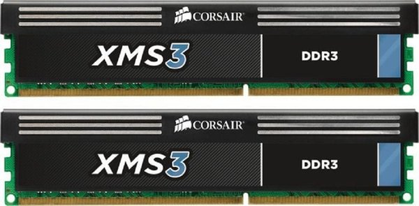 Corsair XMS3 4 GB (2x2GB) CMX4GX3M2A1600C9 DDR3-1600 PC3-12800   #34651