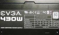 EVGA 430W Power Supply 430 Watt 80+ Netzteil   #39266