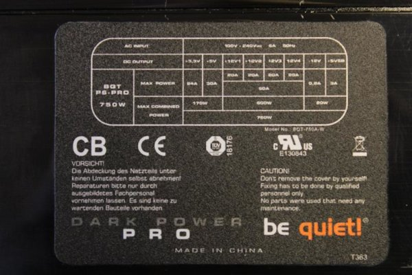 Be Quiet Dark Power Pro BQT P6 Pro 750 Watt Modular  #37732