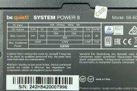 Be Quiet System Power 8 600W (BN242) ATX Netzteil 600...