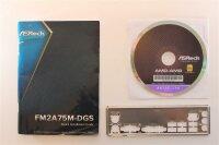 ASRock FM2A75M-DGS - Handbuch - Blende - Treiber CD   #95105