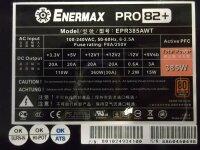 Enermax PRO82+ 385W (EPR385AWT) ATX Netzteil 385 Watt 80+...