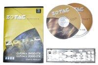 ZOTAC Geforce 9300GE ITX Handbuch - Blende - Treiber CD...