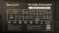 Be Quiet Pure Power L7 350W (BN104) ATX Netzteil 350 Watt...