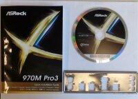 ASRock 970M Pro3 - Handbuch - Blende - Treiber CD   #97762