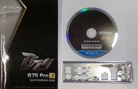 ASRock B75 Pro3 - Handbuch - Blende - Treiber CD   #129015