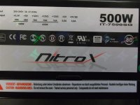 Nitrox IT-7500SG 500 Watt 80+ modular   #35064