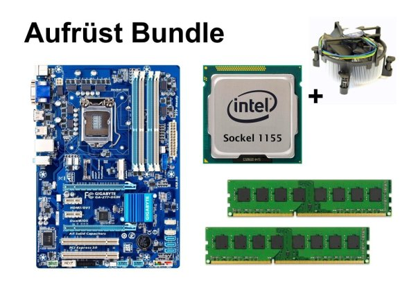 Aufrüst Bundle - Gigabyte Z77-DS3H + Intel Xeon E3-1245v2 + 8GB RAM #142407