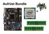 Aufrüst Bundle - MSI B85M-P33 + Intel Core i5-4670K...