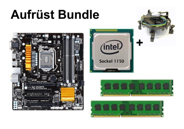 Aufrüst Bundle - Gigabyte Z97M-D3H + Intel Core i5-4570 + 16GB RAM #150410