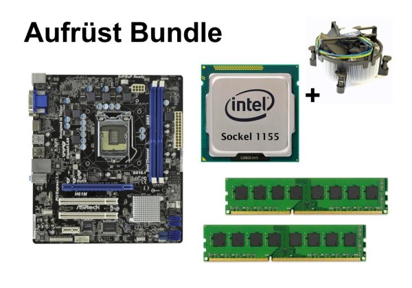 Aufrüst Bundle - ASRock H61M + Intel Core i5-2500 + 8GB RAM #152311