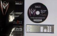 ASRock Fatal1ty E3V5 Gaming/OC  -  Handbuch - Blende -...