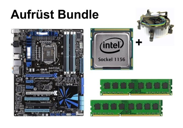 Aufrüst Bundle - ASUS P7P55D Deluxe + Intel Core i5-660 + 4GB RAM #154005