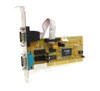 2 x COM-Port Serielle Schnittstelle RS-232 Adapter-Karte...