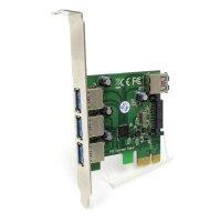 3-Port extern + 1-Port intern USB 3.0 Controller Hub SATA...