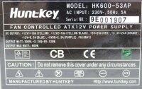 HuntKey HK600-53AP ATX Netzteil 600 Watt  #306149