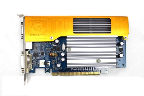 Gigabyte GeForce 7100 GS 128 MB DDR2 passiv silent DVI VGA TV-out PCI-E #306202