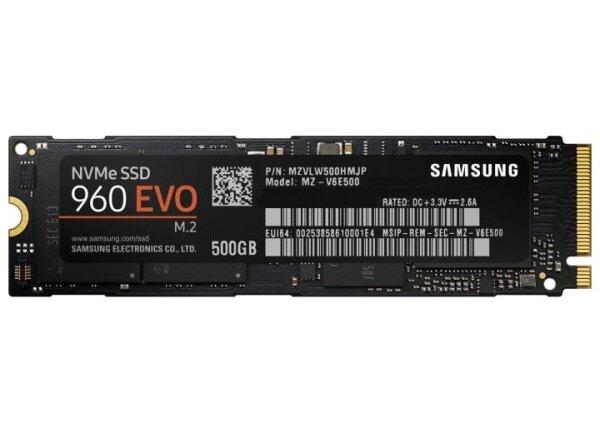Samsung SSD 960 EVO 500 GB M.2 2280 MZ-V6E500 SSM  #306985