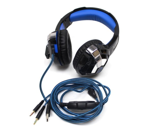 Stereo Gaming-Headset mit LED-Beleuchtung 3.5mm Klinke USB  #307312
