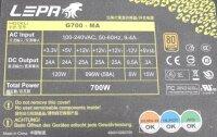 LEPA G700-MA ATX Netzteil 700 Watt modular 80+  #310021