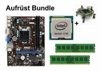Bundle MSI H81M-P33 + Intel Core i3 i5 i7 CPU + 4GB bis...
