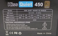 Kiss Quiet 450 KS-M450US ATX Netzteil 450 W teilmodular...