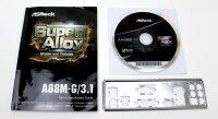 ASRock A88M-G/3.1 - Handbuch - Blende - Treiber CD   #313760