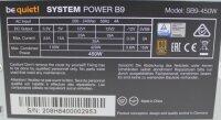 Be Quiet System Power B9 (BN208) ATX Netzteil 450 Watt...
