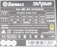 Enermax Triathlor FC ATX Netzteil 700 Watt teilmodular...