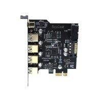 5-Port USB 3.0, USB Type C, Controller 4x Type A 19-Pin...