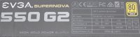 EVGA SuperNOVA 550 G2 (220-G2-0550) ATX Netzteil 550 Watt...