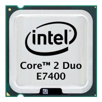 Intel Core 2 Duo E7400 (2x 2.8GHz) SLB9Y CPU Sockel 775...