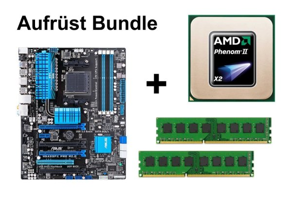 Upgrade Bundle - ASUS M5A99FX Pro R2.0 + Phenom II X2 545 + 16GB RAM #103463