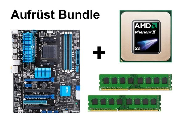 Upgrade Bundle - ASUS M5A99FX Pro R2.0 + Phenom II X4 955 + 4GB RAM #103533